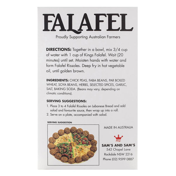 Kings Falafel Mix 1kg , Frdg3-Meals - HFM, Harris Farm Markets  - 2