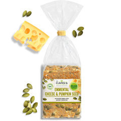 Dr Karg's - Emmental Cheese & Pumpkin Seed - Organic Wholegrain Crispbreads | Harris Farm Online