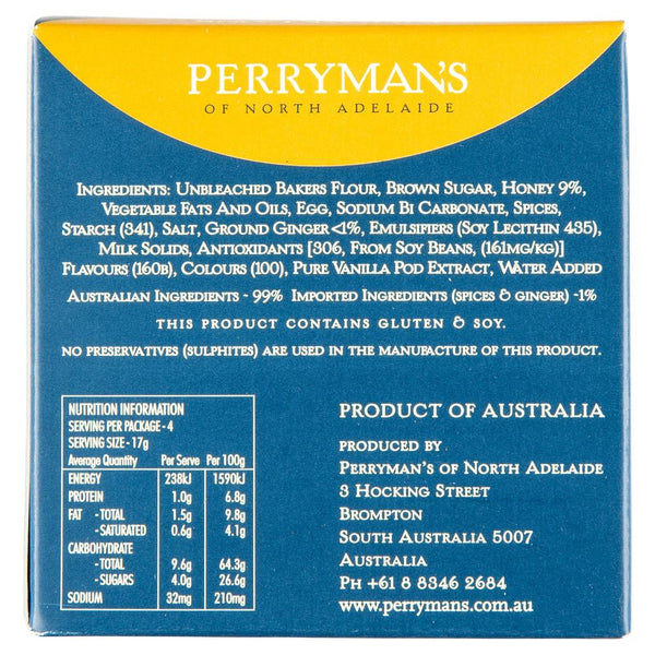 Perrymans Gingerbread Babies 70g , Grocery-Biscuits - HFM, Harris Farm Markets  - 2