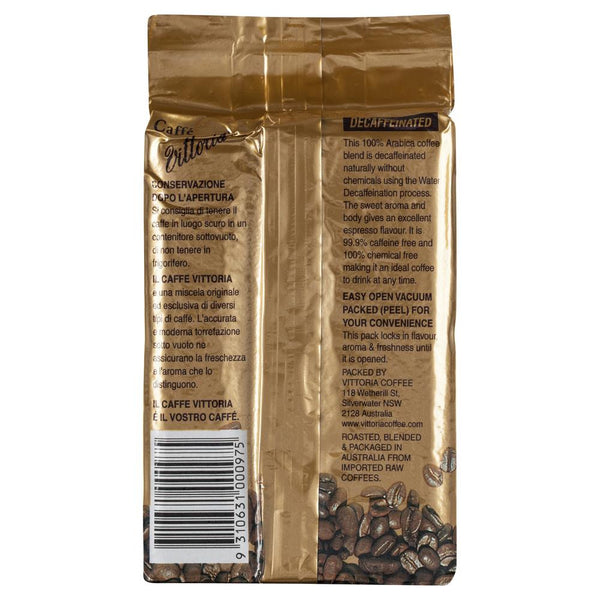 Vittoria Espresso Coffee Ground Decaf 200g , Grocery-Coffee - HFM, Harris Farm Markets  - 2