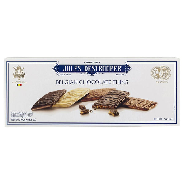Biscuiterie Jules Destrooper Belgian Chocolate Thins 100g , Grocery-Biscuits - HFM, Harris Farm Markets  - 1