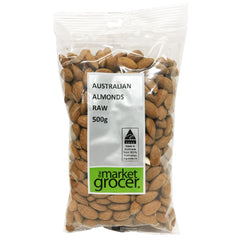 The Market Grocer - Almonds Raw (500g)