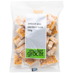The Market Grocer Apricot and Coconut Slice | Harris Farm Online