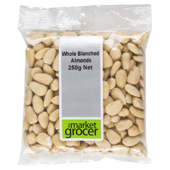 Almonds Whole Blanched (250g) The Market Grocer , Grocery-Nuts - HFM, Harris Farm Markets  - 1