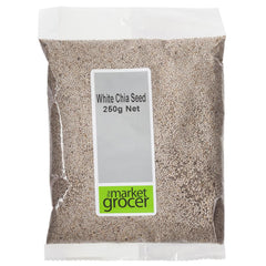 Market Grocer White Chia Seed 250g , Grocery-Nuts - HFM, Harris Farm Markets  - 1