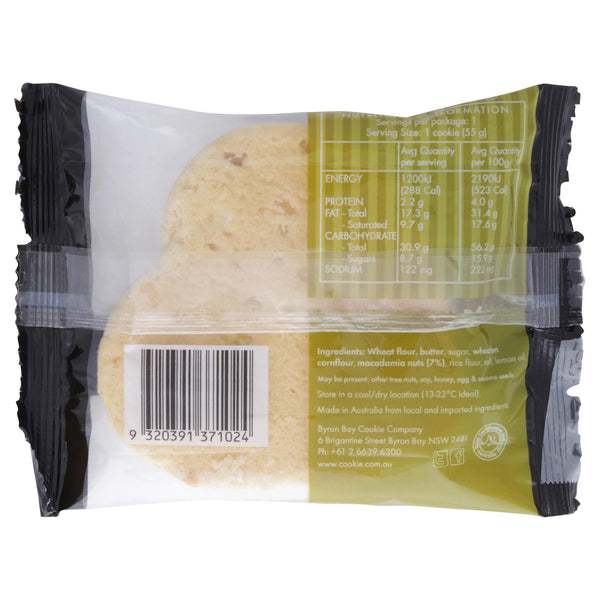Byron Bay Cookie Lemon & Macadamia 60g , Grocery-Biscuits - HFM, Harris Farm Markets  - 2