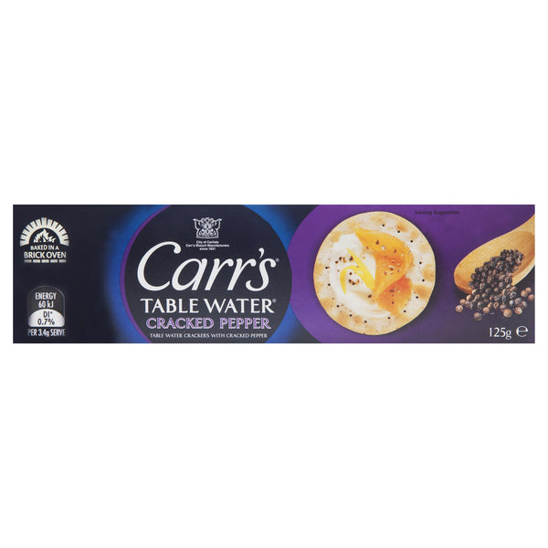 Carrs Crackers Pepper 125g , Grocery-Crackers - HFM, Harris Farm Markets  - 1
