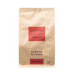 Byron Bay Coffee - Classic Plunger (GROUND, 250g)