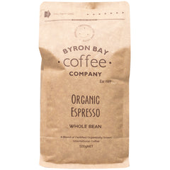 Byron Bay - Coffee Organic Espresso - Whole Bean (500g)