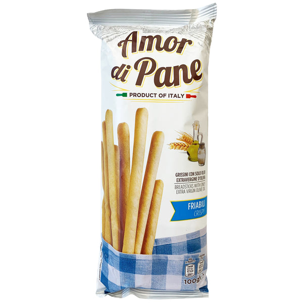 Amor Di Pane - Biscuit Breadsticks - Crispy with Olive Oil (100g)