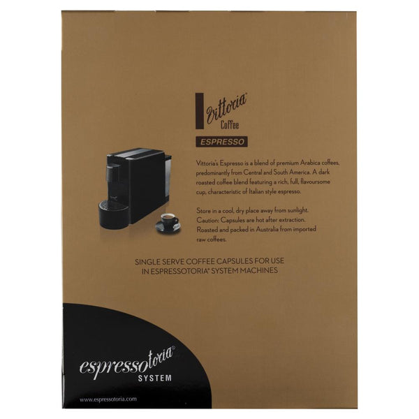 Vittoria Espresso Coffee Capsules Large 78g , Grocery-Coffee - HFM, Harris Farm Markets  - 2