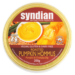 Syndian Roasted Pumpkin Hommus 200g , Frdg1-Antipasti - HFM, Harris Farm Markets  - 1