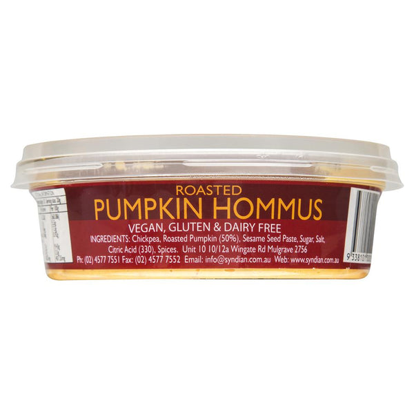 Syndian Roasted Pumpkin Hommus 200g , Frdg1-Antipasti - HFM, Harris Farm Markets  - 2