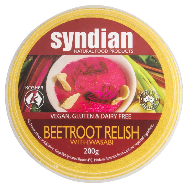 Syndian Beetroot Relish Wasabi 200g , Frdg1-Antipasti - HFM, Harris Farm Markets  - 1