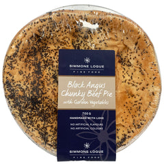 Simmone Logue - Pies Black Angus Chunky Beef (1 large pie, 700g)