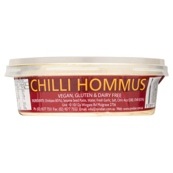Syndian Chilli Hommus Chickpea Dip 230g , Frdg1-Antipasti - HFM, Harris Farm Markets  - 2