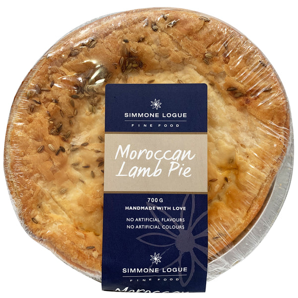 Simmone Logue - Pies Moroccan Lamb (1 large pie, 700g)