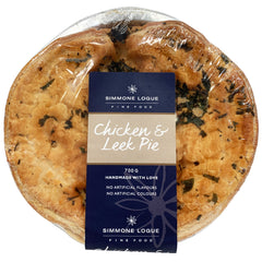 Simmone Logue - Pies Chicken And Leek (1 large pie, 700g)