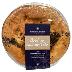 Simmone Logue - Pies Beef and Guinness (1 large pie, 700g)