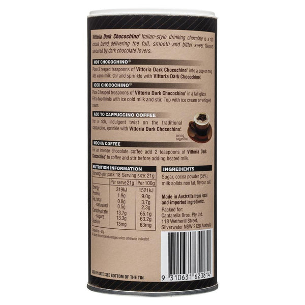 Vittoria Chocochino Dark 375g , Grocery-Coffee - HFM, Harris Farm Markets  - 2