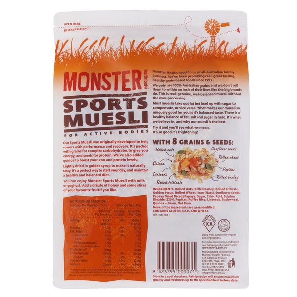Monster Muesli Sport 700g , Grocery-Cereals - HFM, Harris Farm Markets  - 2