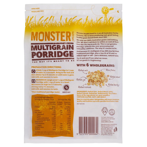 Monster Porridge Multigrain 700g , Grocery-Cereals - HFM, Harris Farm Markets  - 2