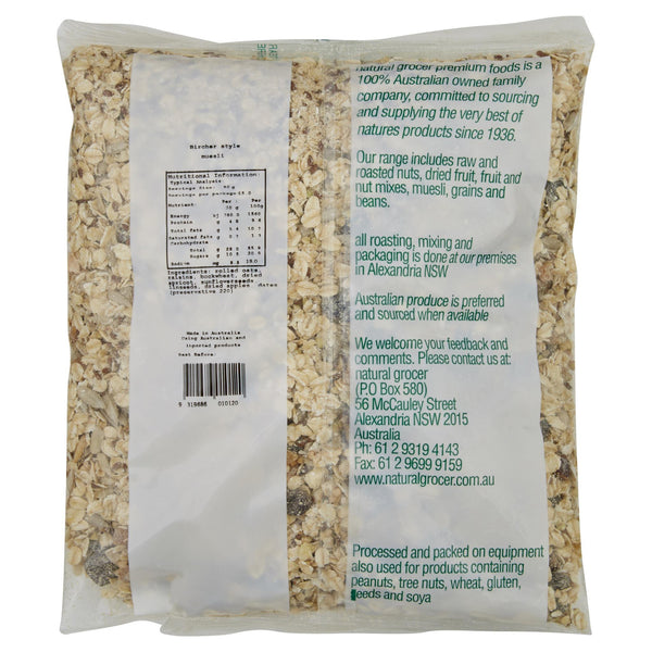 Natural Grocer Muesli Bircher 750g , Grocery-Cereals - HFM, Harris Farm Markets  - 2
