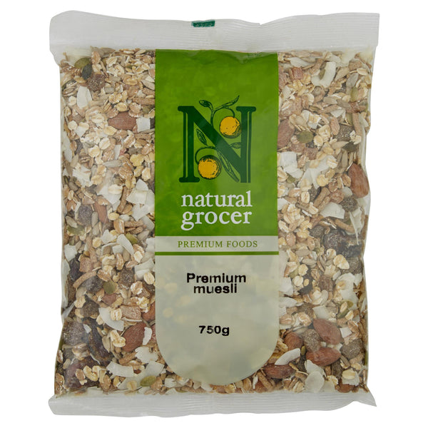Natural Grocer Muesli Natural 750g , Grocery-Cereals - HFM, Harris Farm Markets  - 1
