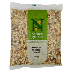 Natural Grocer Muesli Toasted 750g , Grocery-Cereals - HFM, Harris Farm Markets  - 1