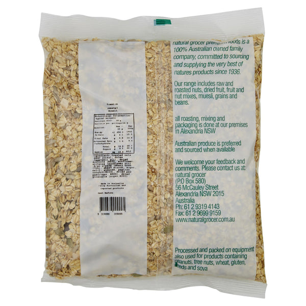 Natural Grocer Muesli Toasted 750g , Grocery-Cereals - HFM, Harris Farm Markets  - 2