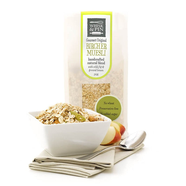 Whisk and Pin Bircher Natural Blend with Wild Fig and Ground Lemon 525g