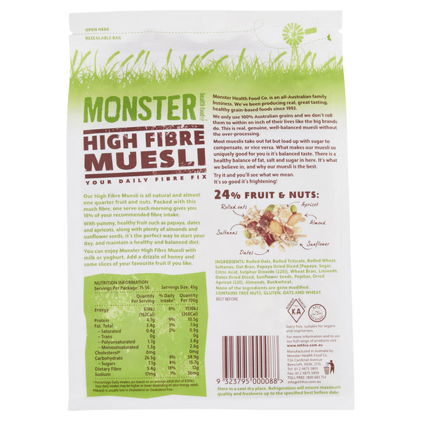 Monster Muesli Hi Fibre 700g , Grocery-Breakfast - HFM, Harris Farm Markets  - 2
