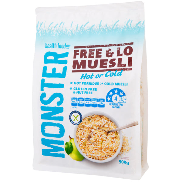 Monster Free and Lo Muesli 500g