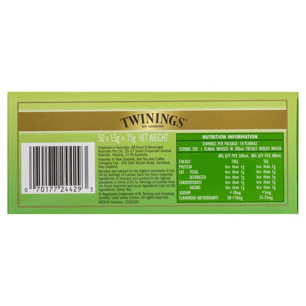 Twinings Pure Green Tea 75g , Grocery-Coffee - HFM, Harris Farm Markets  - 2
