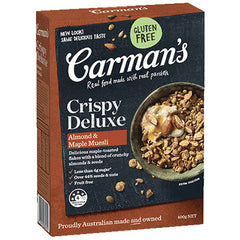 Carman's Muesli - Crispy Deluxe Almond & Maple | Harris Farm Online