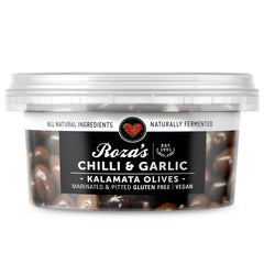 Roza's Gourmet - Kalamata Olives - Chilli & Garlic | Harris Farm Online