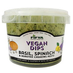 Fifya Vegan Dips Basil, Spinach and Roasted Cashews Pesto 250g