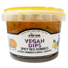 Fifya Vegan - Spicy Red Hommus - Coriander & Whole Chickpeas (250g)