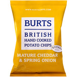Burts Hand Cooked Potato Chips Mature Cheddar and Spring Onion 150g