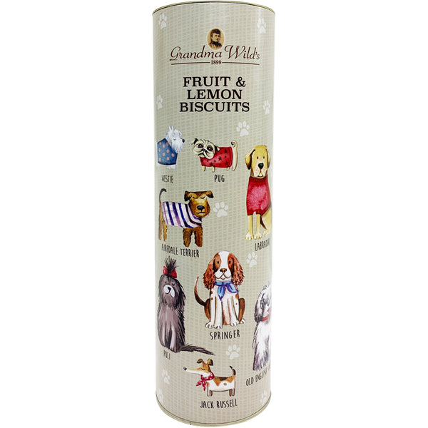 Grandma Wild's Fruit and Lemon Biscuits Dogs print Tube | Harris Farm Online