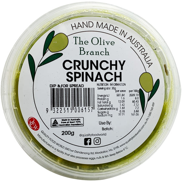 The Olive Branch Dips Crunchy Spinach 200g