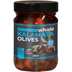 Foda Organic Whole Kalamata Olives | Harris Farm Online