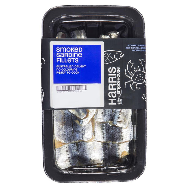 Harris Smokehouse Smoked Sardine Fillets (150-250g) , Frdg3-Seafood - HFM, Harris Farm Markets  - 1