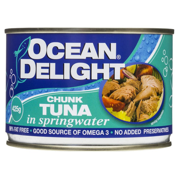 Ocean Delight Chunk Tuna Springwater 425g , Grocery-Can or Jar - HFM, Harris Farm Markets  - 1