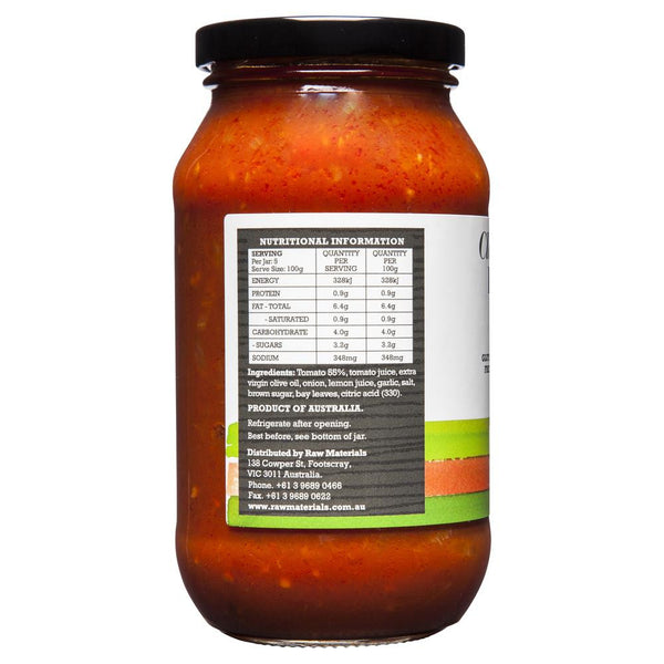 Raw Material Pasta Sauce Tomato 500g , Grocery-Condiments - HFM, Harris Farm Markets  - 2