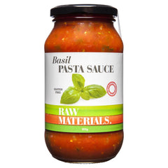 Raw Materials Pasta Sauce Basil 500g , Grocery-Condiments - HFM, Harris Farm Markets  - 1