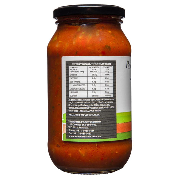 Raw Material Pasta Sauce Roast Vegies & Chilli 500g , Grocery-Condiments - HFM, Harris Farm Markets  - 2