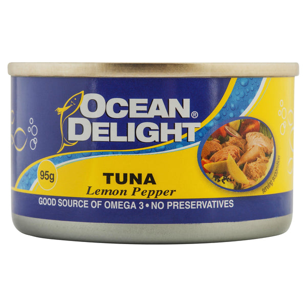Ocean Delight Tuna Lemon/Pepper 95g , Grocery-Can or Jar - HFM, Harris Farm Markets  - 1
