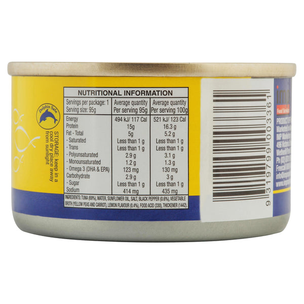 Ocean Delight Tuna Lemon/Pepper 95g , Grocery-Can or Jar - HFM, Harris Farm Markets  - 2