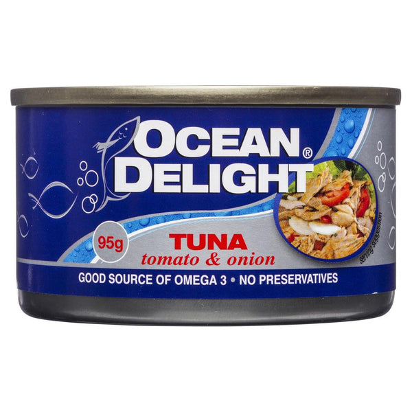 Ocean Delight Tuna Tomato & Onion 95g , Grocery-Can or Jar - HFM, Harris Farm Markets  - 1